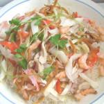 Mực khô xào bắp cải
