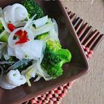 Mực trộn bông cải xanh cực ngon
