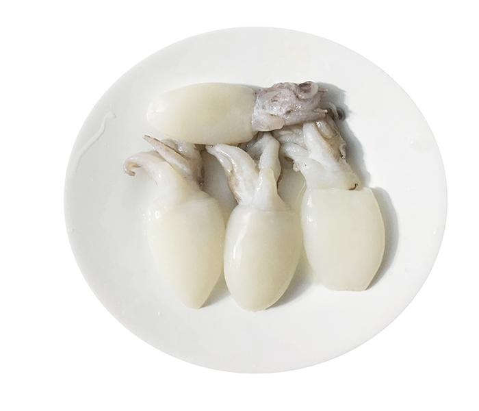 Sơ chế mực sữa