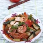 Món mực, tôm xào thập cẩm cực ngon