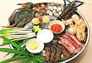 Những nguyên liệu cho món lẩu hải sản