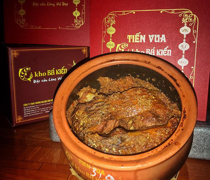 Cá kho tiến vua hiệu Bá Kiến chuyên được dùng làm quà biếu tặng ngày tết