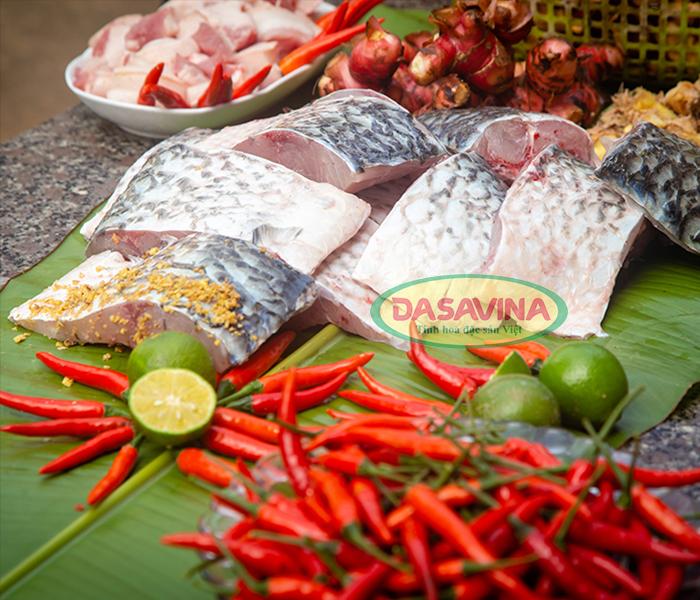 Nguyên liệu làm món cá kho làng Vũ Đại