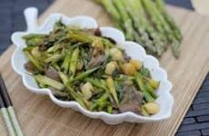 Sò điệp xào thịt bò măng tây thơm ngon, bổ dưỡng