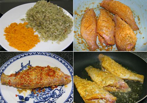 Nguyên liệu cho món cá hường chiên sả ớt