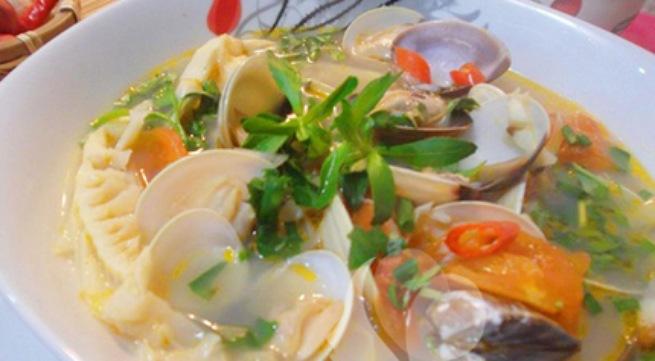 Canh ngao nấu măng thanh nhẹ cho bữa tối